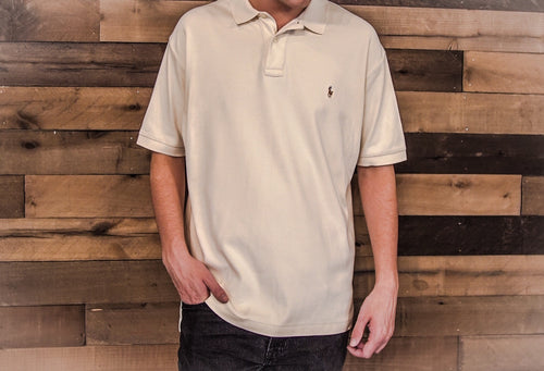 RALPH LAUREN Men's Cream Colored Polo Shirt