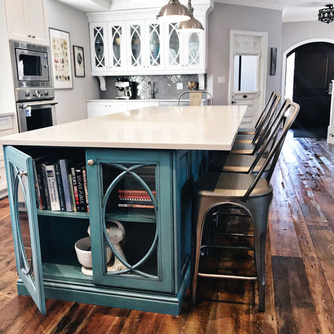 Kitchen island recipe book nook