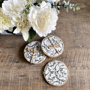 Grey Ornate Coasters