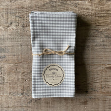 Load image into Gallery viewer, Grey Checker Cloth Dinner Napkins - Set of 4