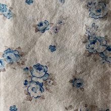 Load image into Gallery viewer, Beige and Blue Vintage Floral Cloth Dinner Napkins - Set of 6