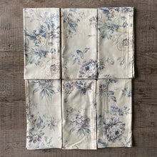 Load image into Gallery viewer, Mauve and Beige Vintage Floral Cloth Dinner Napkins - Set of 6