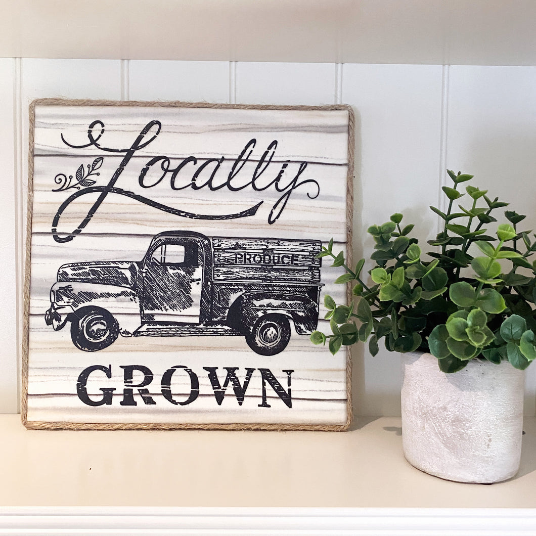 Locally Grown Farmhouse Canvas Print