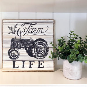 Farm Life Farmhouse Canvas Print