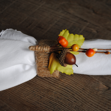 Load image into Gallery viewer, Fall Acorn Switch-Er-Roo Napkin Ring Fastener Set