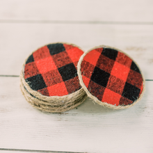 Load image into Gallery viewer, Red Buffalo Plaid Coasters