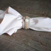 Load image into Gallery viewer, Pink Vintage Floral Napkin Rings