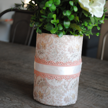 Load image into Gallery viewer, Pink Vintage Floral Flower Pot/Vase