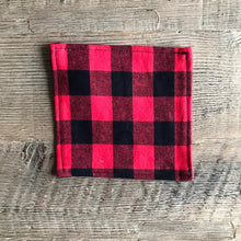 Load image into Gallery viewer, Red Buffalo Plaid Cloth Cocktail Napkin - Set of 6