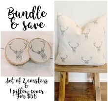 Load image into Gallery viewer, Bundle & Save - Matching Pillow & Coaster Set