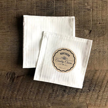 Load image into Gallery viewer, White Stripe Cloth Cocktail Napkin - Set of 6