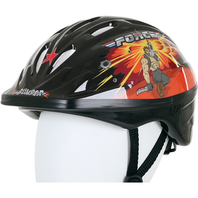 Bumper Force Helmet Black / Orange