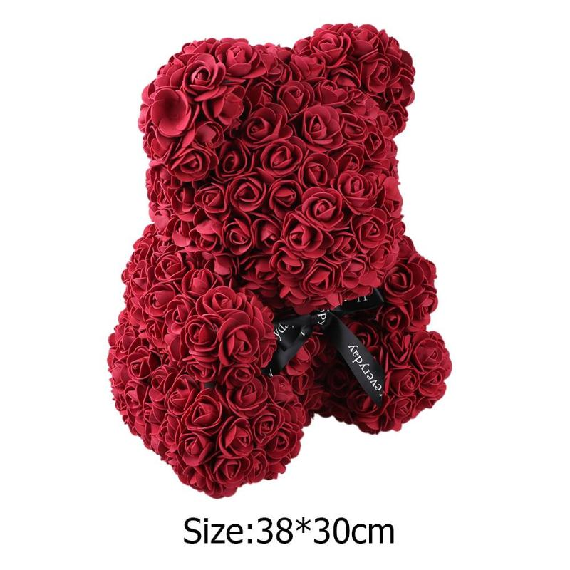 Festive & Party Supplies Cute Pe Rose Bear Toy Women Girls Flower Birthday Wedding Decoration Party Doll Toy Anniversary Valentine Gift For Girl Friend Artificial & Dried Flowers