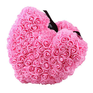 New Valentines Day Gift Cute Pe Rose Bear Toys Women Girls Flower Birthday Wedding Party Doll Gift Anniversary Gift Artificial & Dried Flowers