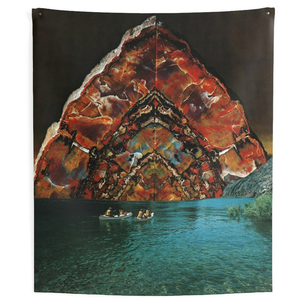 Lovely Sky Boat Tapestry