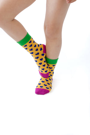 Merino Kids Socks - Hearts