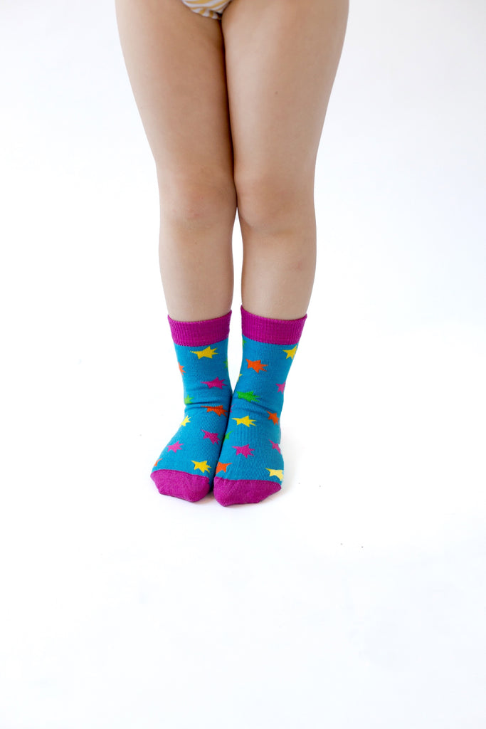 Merino Kids Socks - Stars