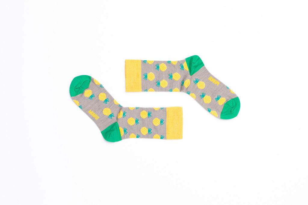 Yellow Pineapple Sock