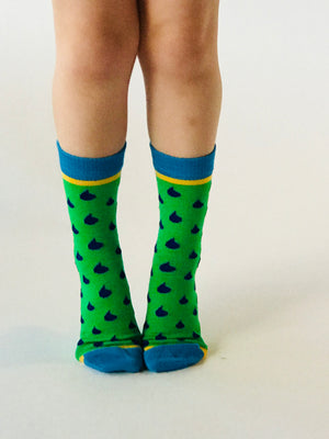 Merino Kids Socks - Rain Drops