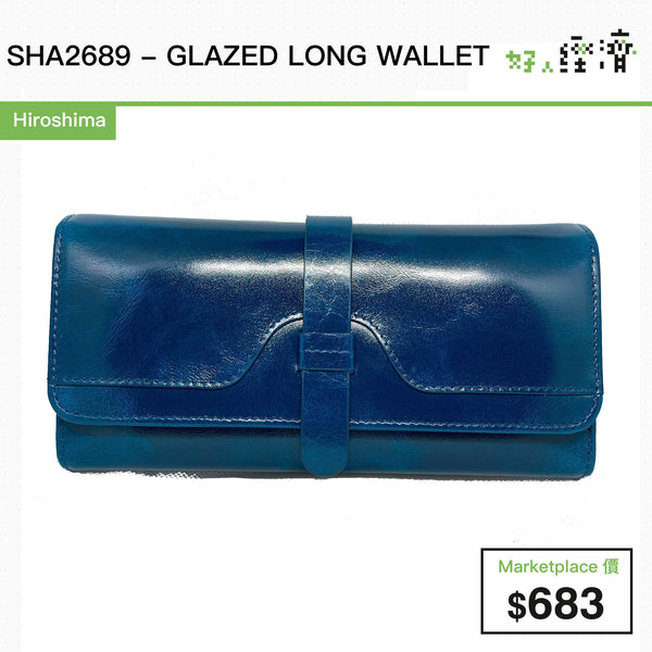 SHA2689 - GLAZED LONG WALLET