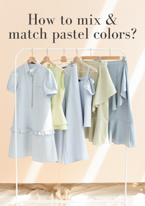 How to mix & match pastel colors?