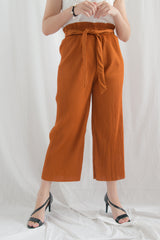 Haisley Pleated Knot Culottes (Brown)