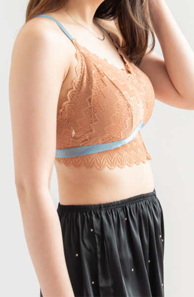 Get-Together Lace Bralette (Orange)