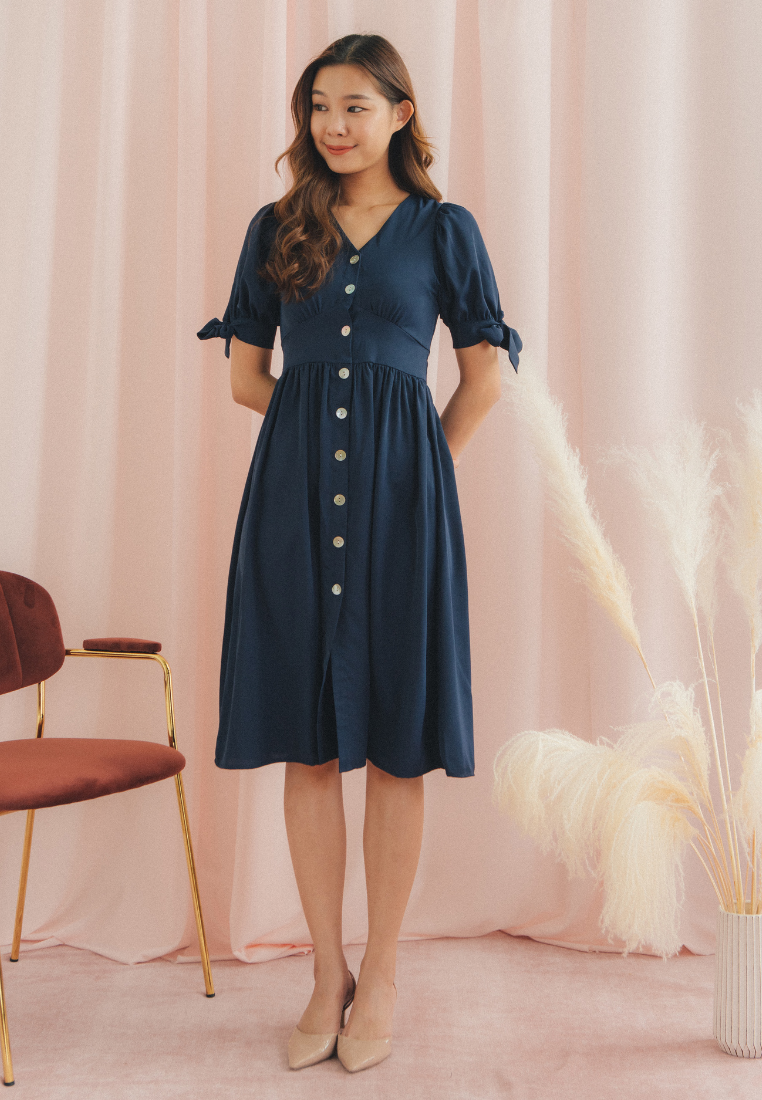Work from Home Midi Dress (Navy)