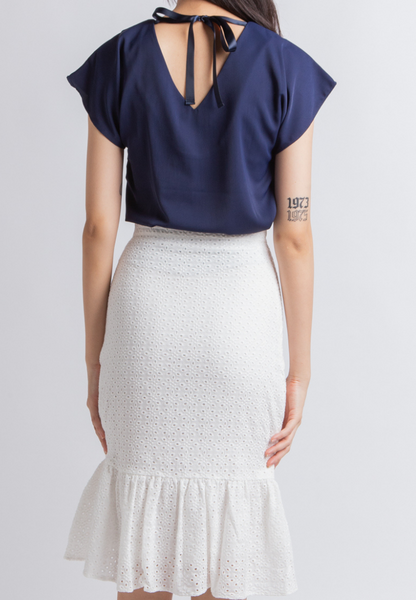Hopeful Boat Neck Top (Navy)