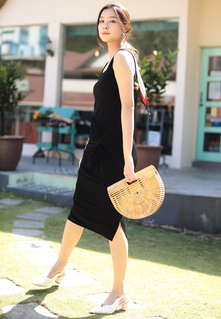 Sunny Square Neck Top (Black)