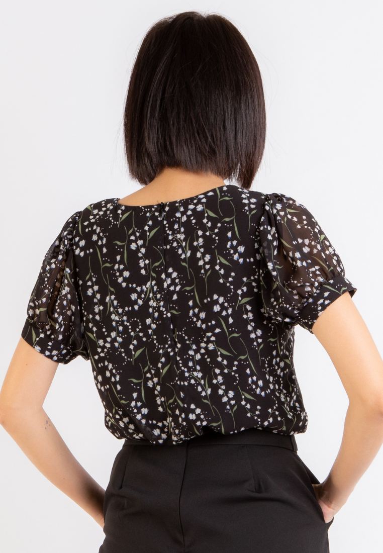 Beauty Floral Top (Black)