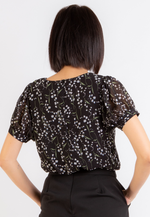 Load image into Gallery viewer, Beauty Floral Top (Black)