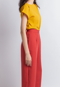 Hopeful Boat Neck Top (Mustard)