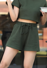 Load image into Gallery viewer, Noelle Sweat Shorts (Green)