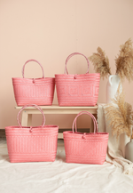 "Load image into Gallery viewer, Borneo Hand Woven Bag 10""x11.5"" (Pink)"