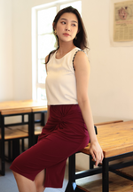 Load image into Gallery viewer, Optimistic Knot Pencil Skirt (Maroon)