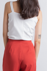 Load image into Gallery viewer, Anissa Knotted Crop Top (White)