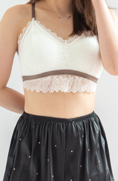 Get-Together Lace Bralette (White)