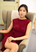 Load image into Gallery viewer, Lively Knot Bodycon Dress (Maroon)