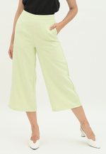 Load image into Gallery viewer, Iris Wide Leg Culottes (Lime Green)