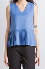 Load image into Gallery viewer, Scarlett Peplum Top (Blue)
