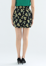 Load image into Gallery viewer, Lemony Self Tie Shorts (Black)