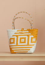 Load image into Gallery viewer, Borneo Hand Woven Bag (White and Yellow)
