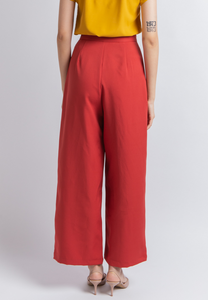 Joyful Wide Leg Pants (Coral)
