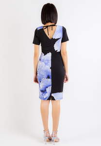 Abundance Floral Pencil Dress (Black)