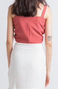Anissa Knotted Crop Top (Pink)