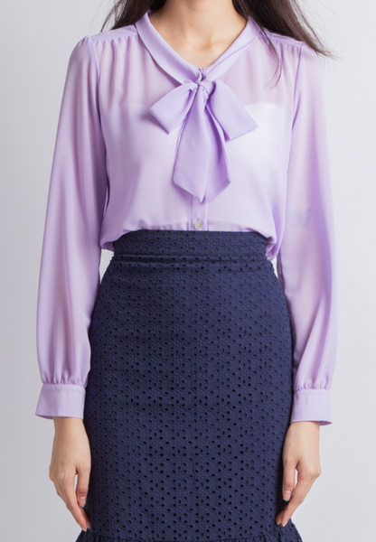 Lock Me Down Ribbon Top (Lavender)
