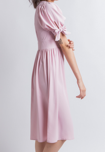 Work from Home Midi Dress (Pink)