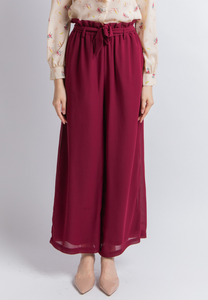 Cozy Wide Leg Culottes (Plum)