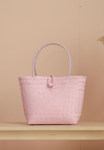 "Load image into Gallery viewer, Borneo Hand Woven Bag 10""x13"" (Light Pink)"
